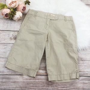 J.Crew Chino Bermuda City Fit Shorts Capris